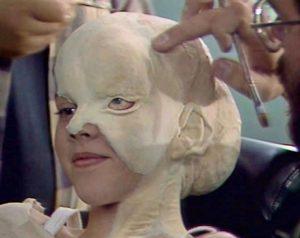 Вспомнить всё (1990). Грим ребенка-мутанта.