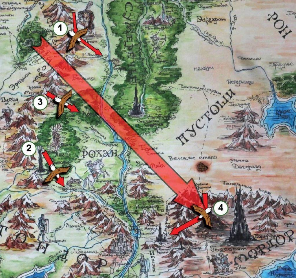 Путь орлов в Средиземье