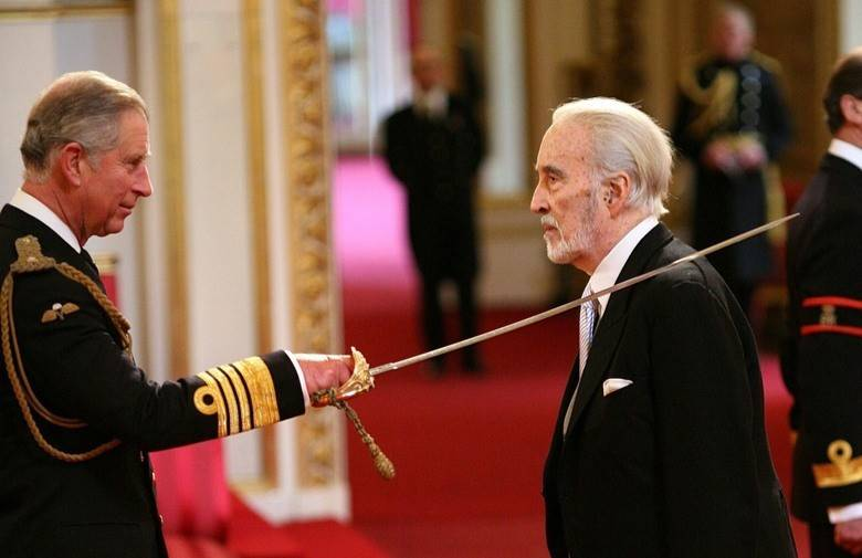 Christopher Lee Knighted.