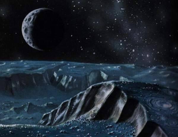 Вид с Плутона в представлении художника.