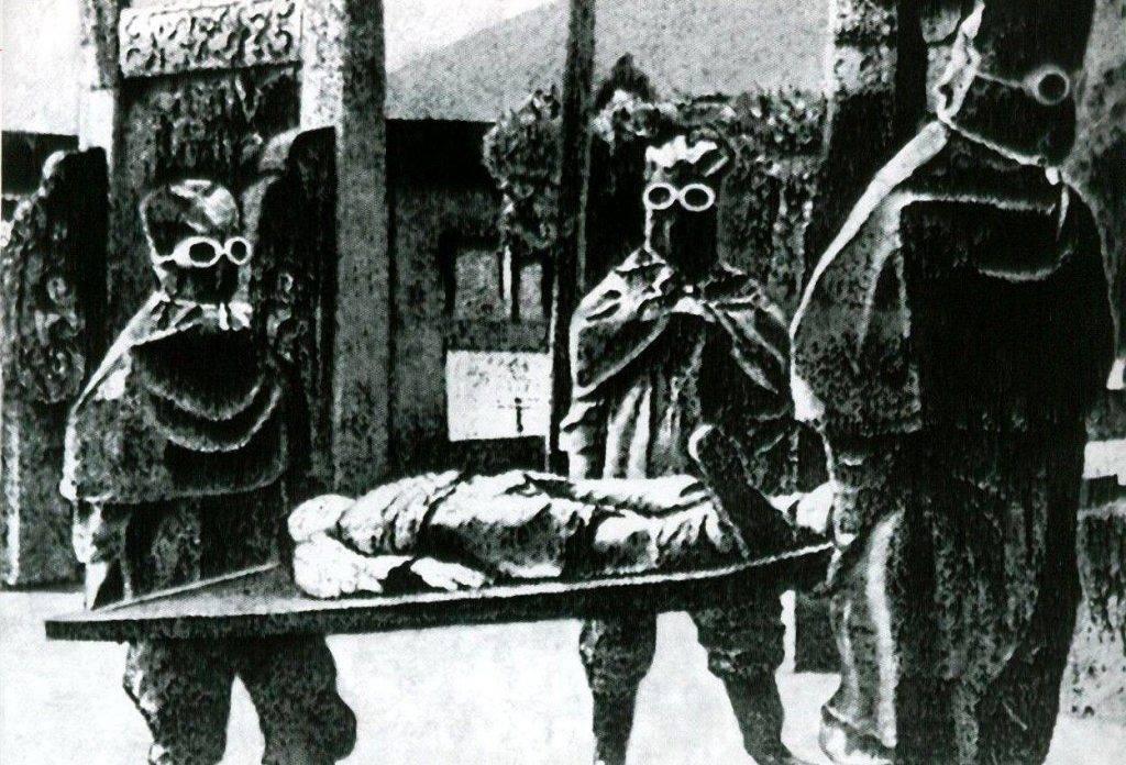 Сотрудники Отряда 731 в рабочей одежде.