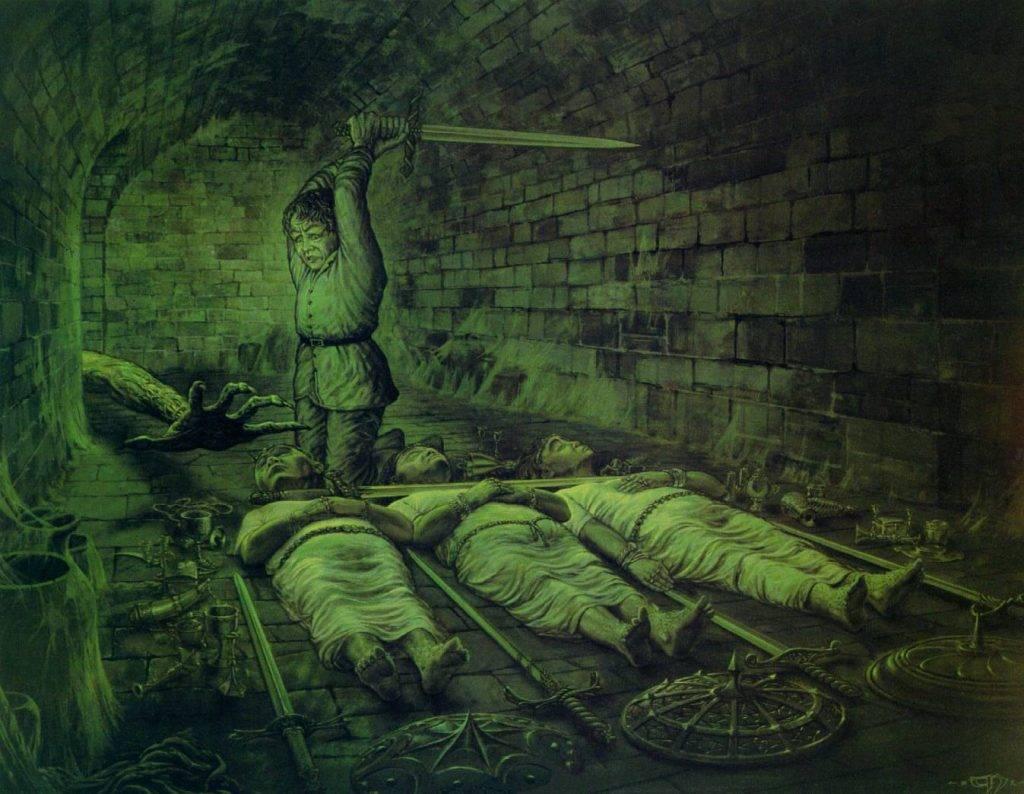 Одна из первых опубликованных работ Нэсмита по мотивам «Властелина Колец».