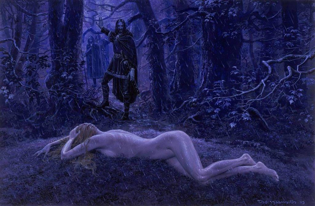 Издатели не допустили обнажёнку на страницы «Сильмариллиона». Эта картина Нэсмита так и осталась неопубликованной.