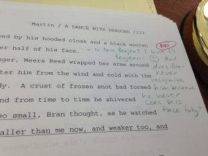 Но когда редактор высказал эту теорию на полях рукописи, Мартин приписал: «Нет»