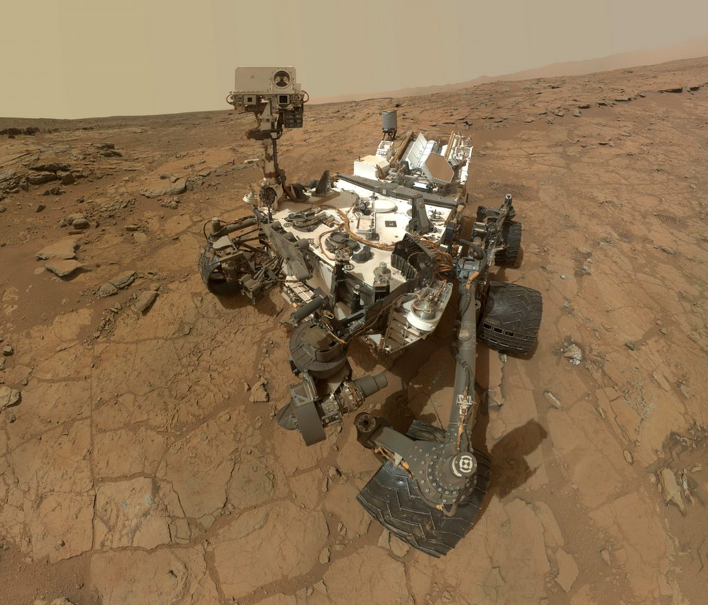 NASA/JPL-CALTECH/MSSS IMAGE This self-portrait of NASA's Mars rover Curiosity combines dozens of images taken by the rover's Mars Hand Lens Imager on Feb. 3.