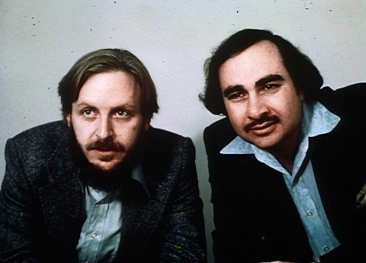 Дэн О'Бэннон (слева) и Рональд Шусетт, судя по выражениям лиц, замышляют очень страшное кино.