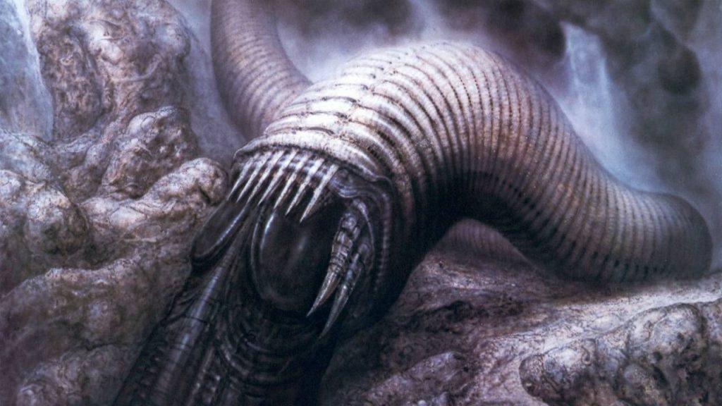 Пустынный червь в представлении Гигера