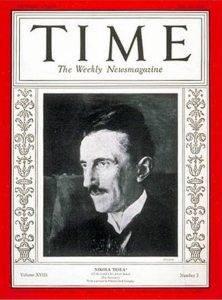 Тесла на обложке журнала «Тайм».