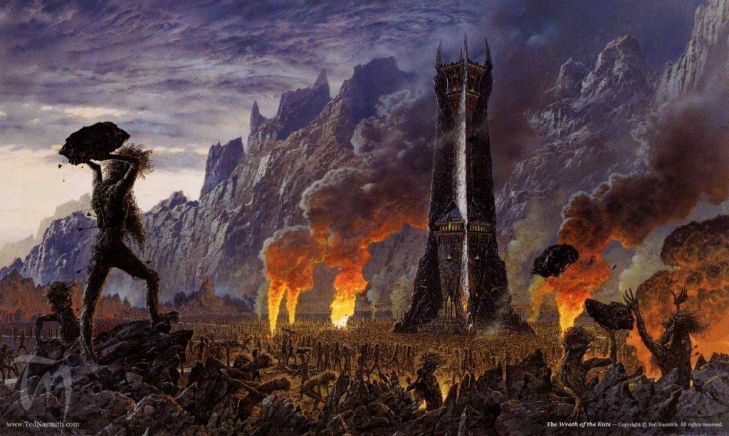 На месте разрушенного Изенгарда энты впоследствии разбили величественный сад.