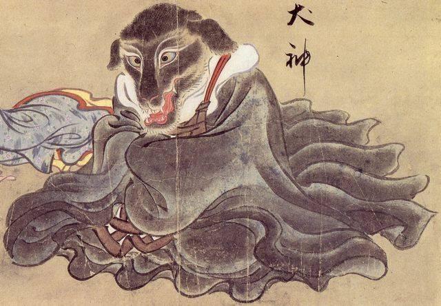 Ину-гами. В одной из легенд собаке отпилили голову тупой бамбуковой пилой.