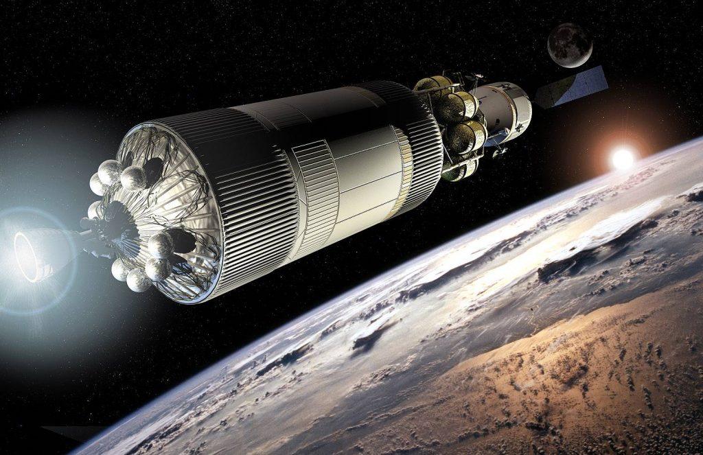 Если бы президент Обама не отменил программу Constellation, так могли бы выглядеть отправляющиеся к Марсу корабли