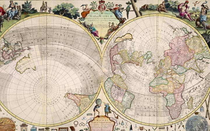 Так англичане представляли себе «систему мира» (карта, изданная в Лондоне в 1714 году).