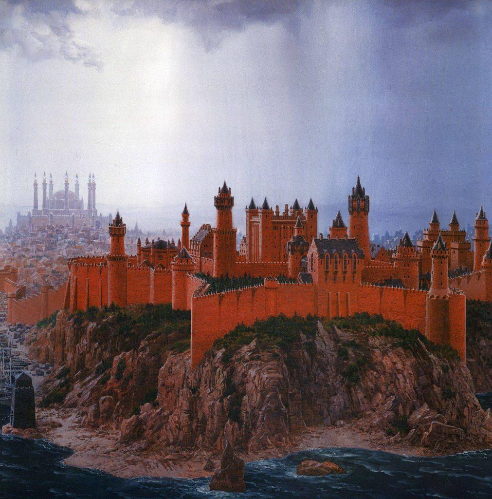 Красный замок — одна из самых молодых твердынь Вестероса, он был основан лишь с приходом к власти Таргариенов.