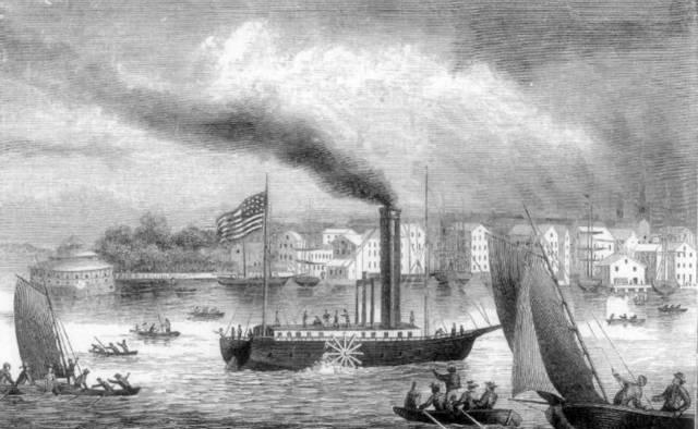 Пароход «Клермонт». Первая «ласточка» парового флота