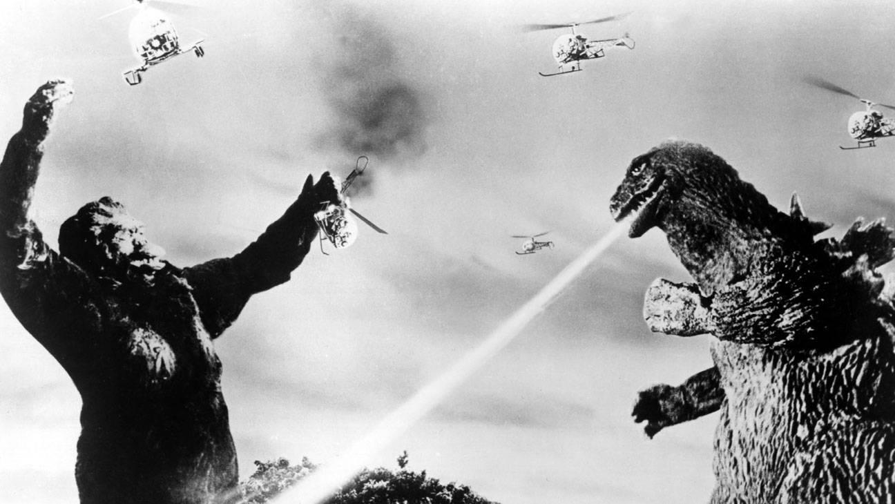 KING KONG VS. GODZILLA, King Kong, Godzilla, 1963, breathing fire