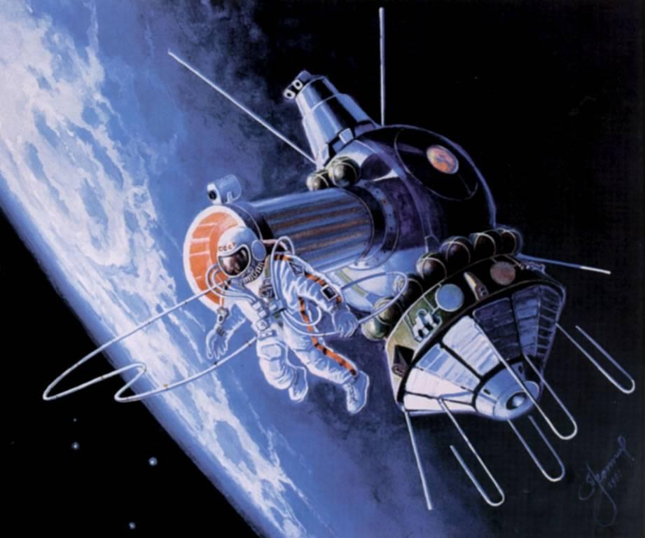 Картина Алексея Леонова «Выход в открытый космос».