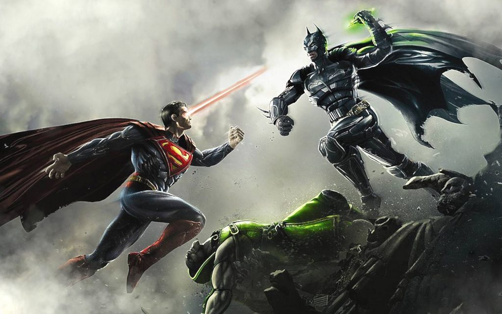 В Injustice: Gods Among Us Супермен выходит на бой против Бэтмен