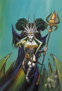 Темные эльфы «Молота войны», в отличие от своих двоюродных братьев из «Забытых королевств», могут похвастаться белоснежной кожей.
