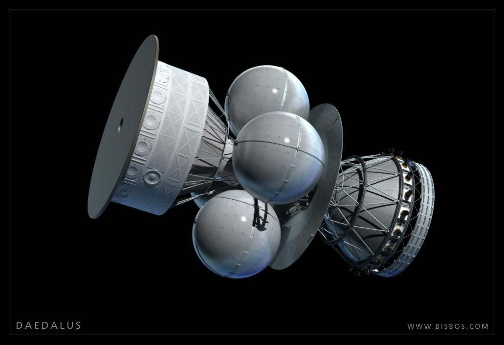 «Дедал» — концепт-арт Британского межпланетного общества