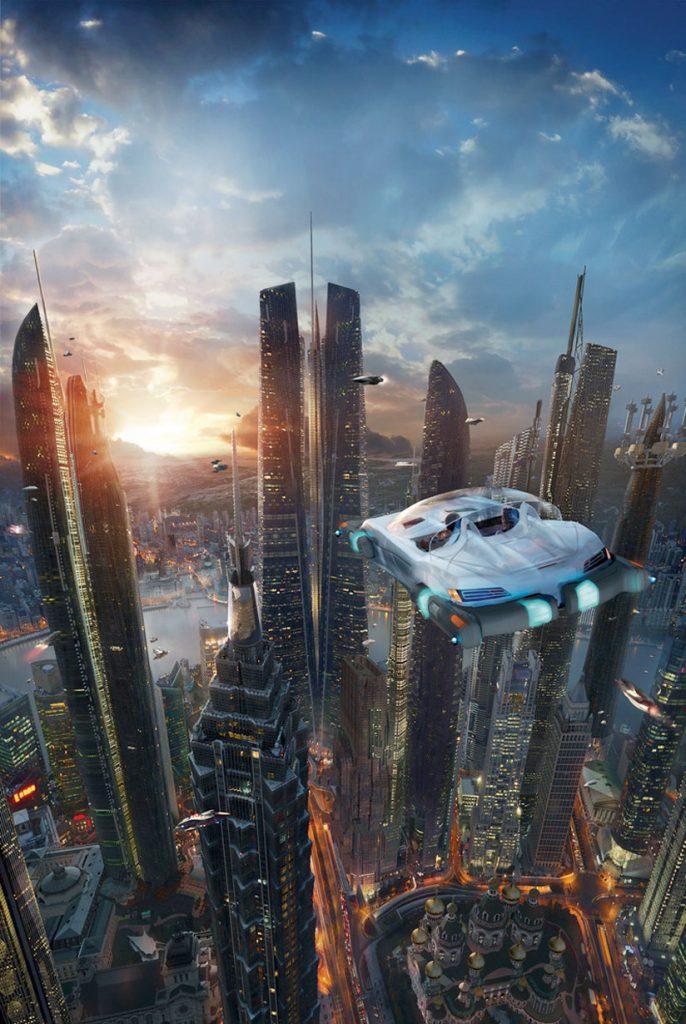 Таков мир будущего «по Буджолд» (иллюстрация Дэйва Сили к роману «Союз капитана Форпатрила»).