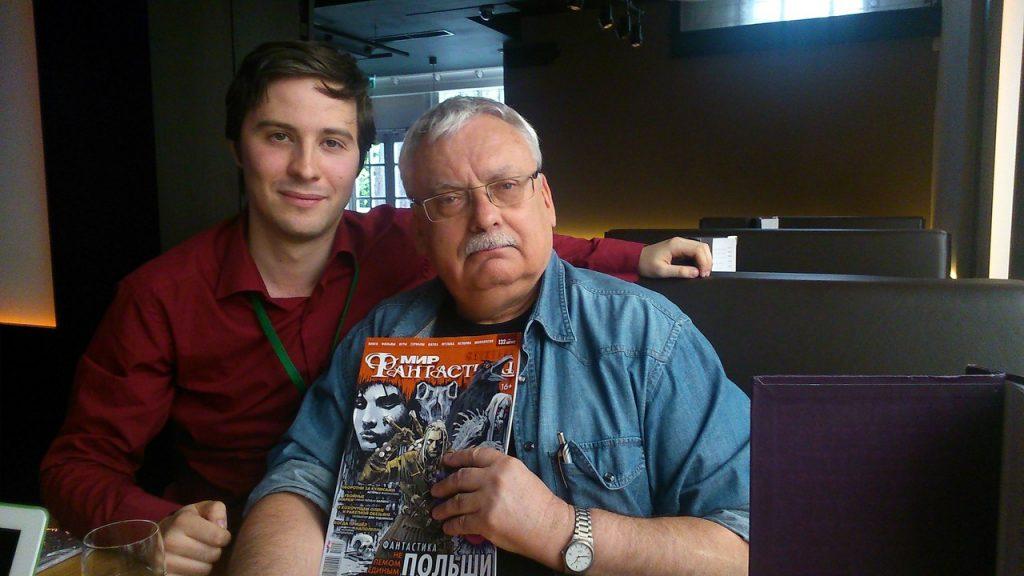 После беседы мы подарили мэтру «польский» номер «Мира фантастики».