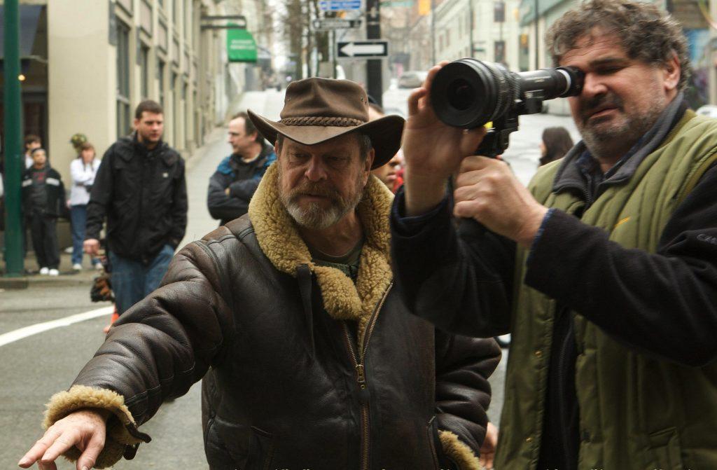 Никола Пекорини с Терри Гиллиамом на съёмках «Воображариума доктора Парнаса».