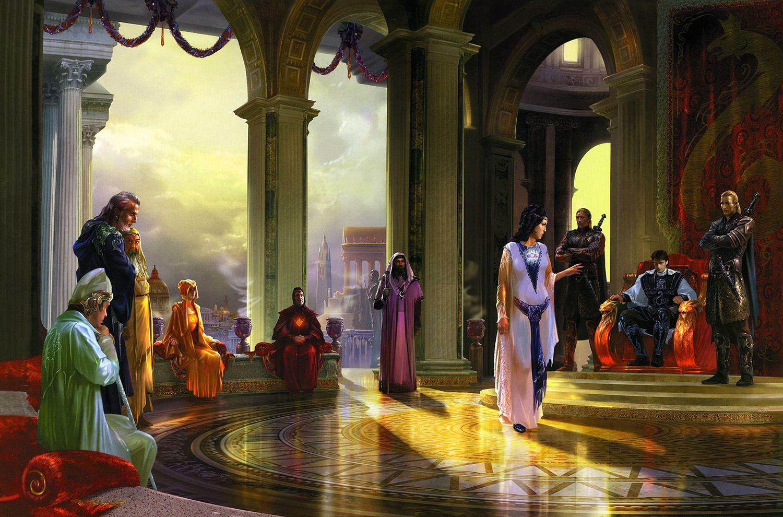 Члены Ордена Радуги, на словах — «смиренные слуги Императора», много лет были фактическими правителями Мельинской империи.