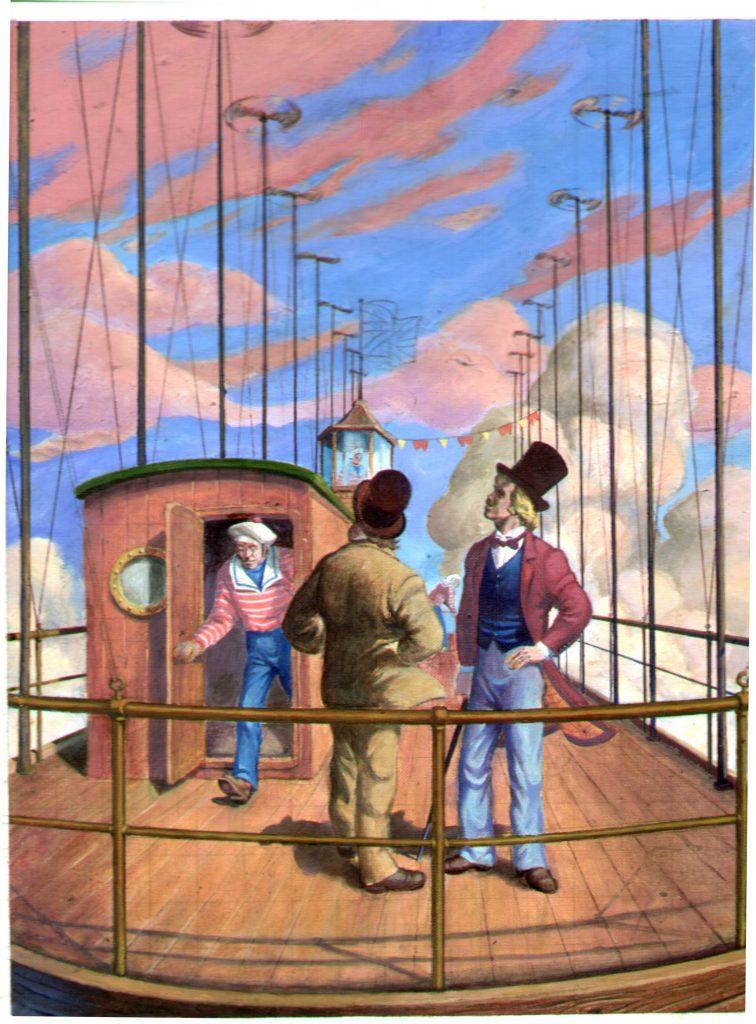 Как и Немо на «Наутилусе», Робур совершил на «Альбатросе» кругосветное путешествие.