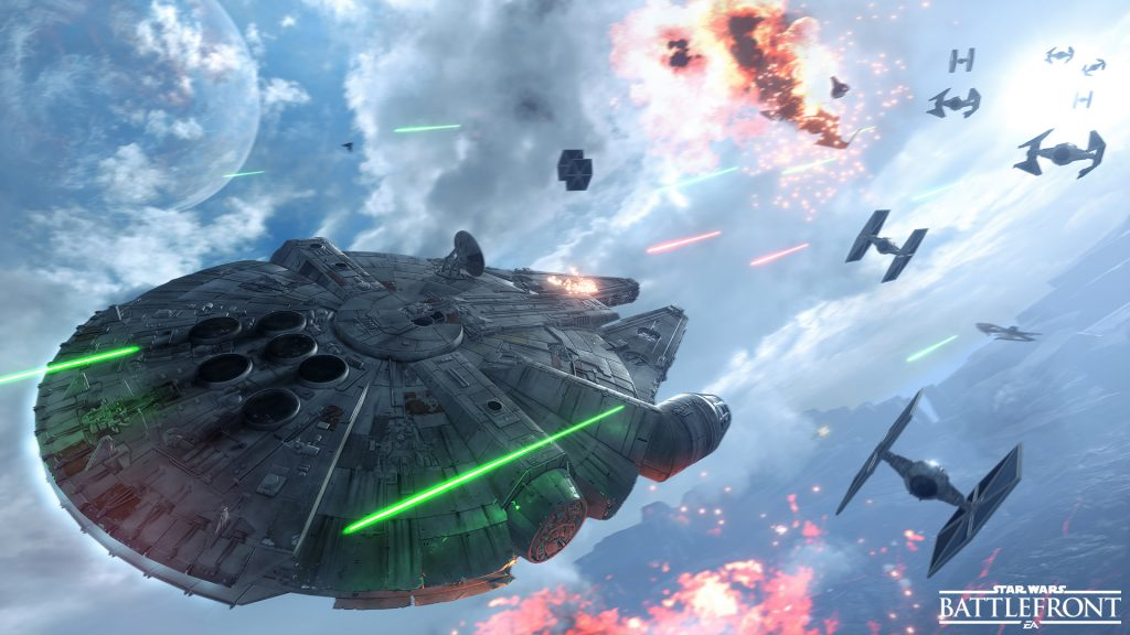 Star Wars Battlefront Millenium Falcon