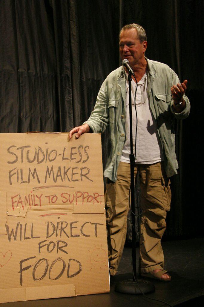 «Бесстудийный режиссёр, имеющий на содержании семью, снимет кино за еду». В этом весь Гиллиам.