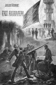 Битвы подлодок Верн описал в своём позднем романе «Флаг родины».