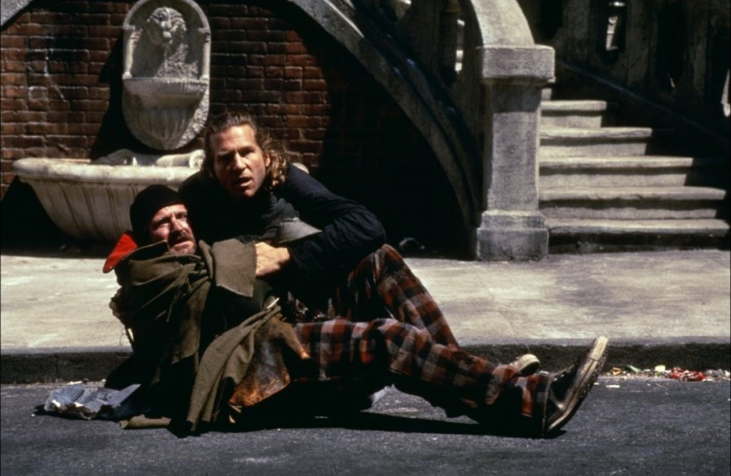 Робин Уильямс и Джефф Бриджесс в «Короле-Рыбаке» — ещё одна взаимодополняющая пара гиллиамовских скитальцев.