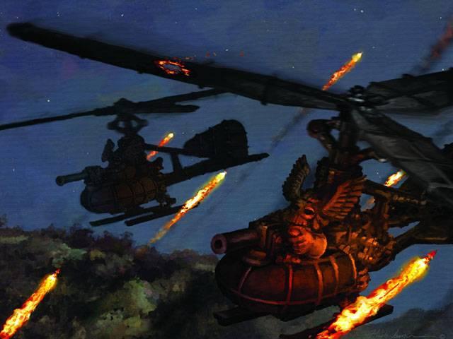 Вершина конструкторской мысли гномов — вертолет, он же гирокоптер.