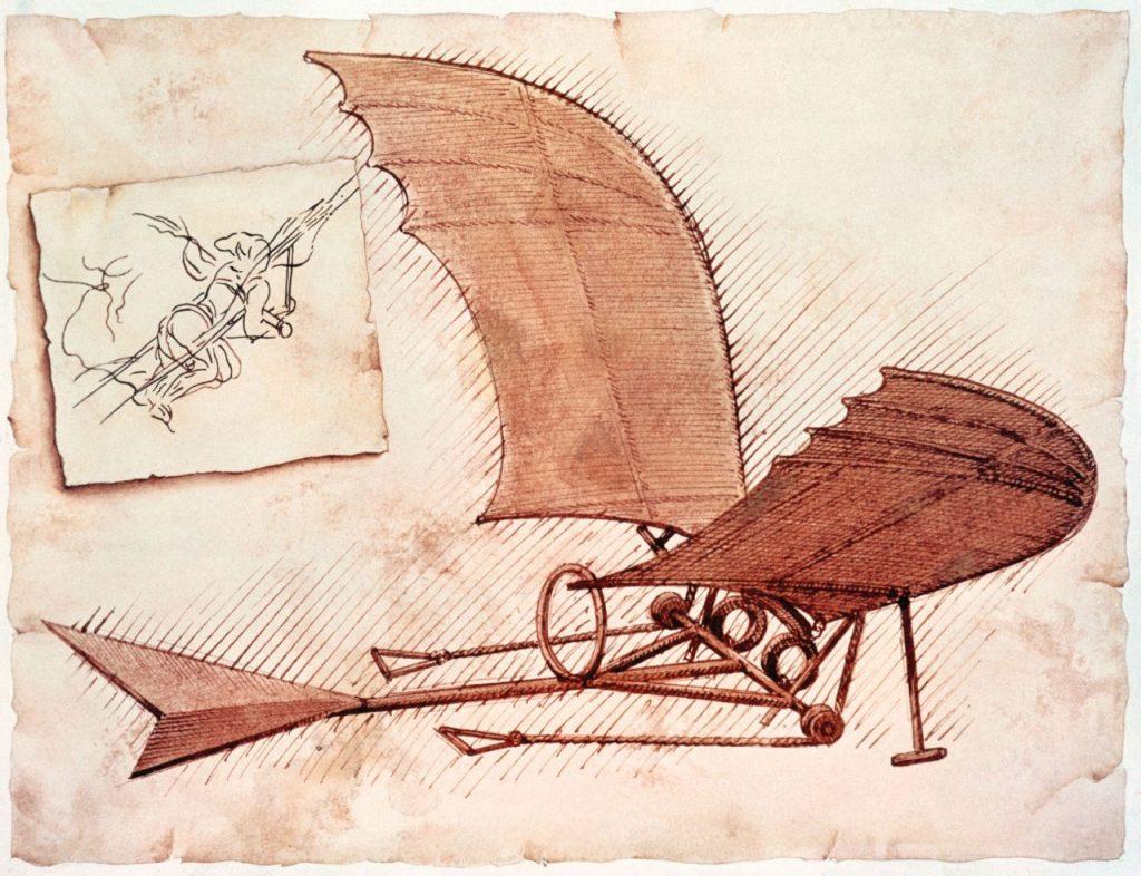 В чертежах Леонардо да Винчи нет ничего инопланетно-подозрительно. Фантастика полна описаний устройств, которые пока нельзя изготовить. И которые не будут работать, если их изготовить в точном соответствии с описанием.