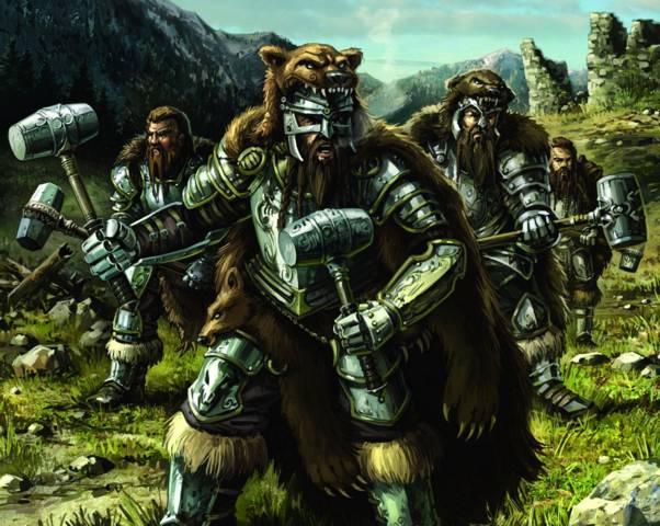 Воины Ульрика черпают силу у диких зверей.