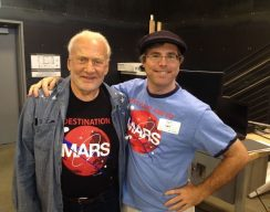 Andy Weir and Buzz Auldrin