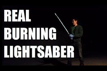 Создан реальный огненный меч