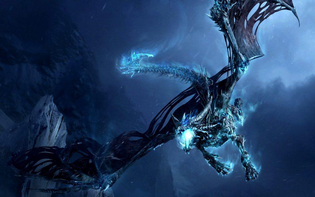 Ледяной дракон из WarCraft.