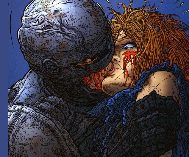 Сценарий Фрэнка в итоге нашёл воплощение в комиксе. Да, Робокоп в нём целуется!