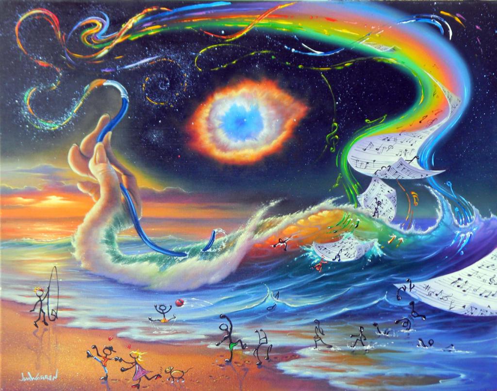 God is an artist — «Бог как художник». Мир, несмотря на все свои недостатки, — прекрасное место, где есть искусство, музыка, живописные пляжи и масса возможностей для творчества. Трудно поверить, что всё это не было создано каким-то высшим разумом, — хотя представление об этом разуме у каждого своё.