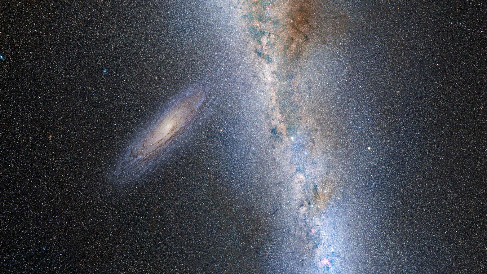 Роскосмос: вот так будет выглядеть столкновение галактик