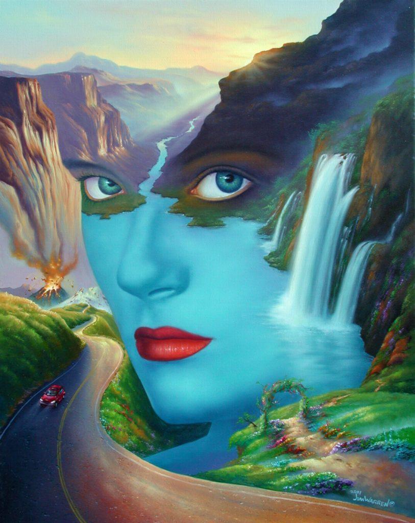 Mother Nature — «Мать-природа». Я написал эту картину в девяностые годы, чтобы показать, что наша мать-природа — живое существо и нуждается в защите и опеке.