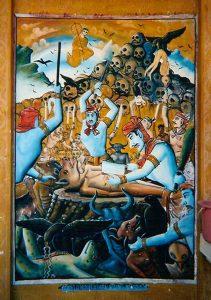 Одна из шестнадцати буддистских нарак (преисподних). Свиноголового грешника демоны режут на части, после чего он срастается заново.