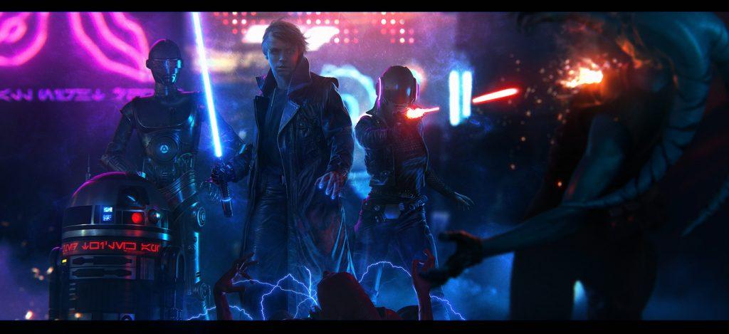 JGomez – CGPlus Re Imagine Star Wars - A Dark Jedi and a Renegade Princess