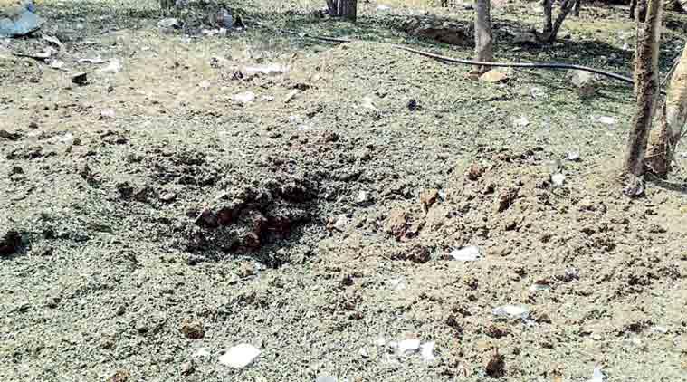 Место падения индийского метеорита.