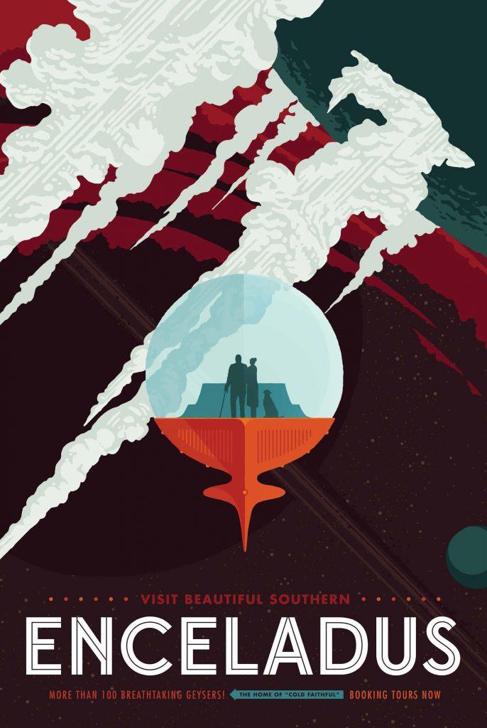 Энцелад, спутник Сатурна