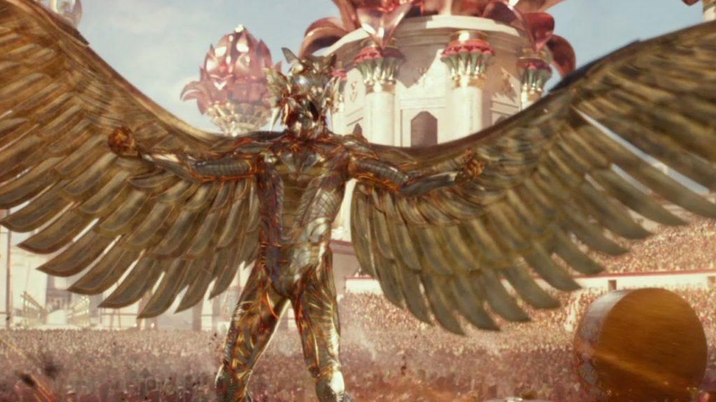 Египетские боги в бою надевали плохо нарисованные костюмы а-ля Тони Старк.