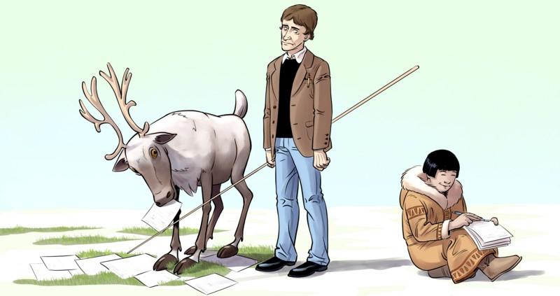 Стоит ли ругать оленевода за неграмотность? Так он же не писатель, какой с него спрос! Но разве писателя можно ругать за то, что он не оленевод?