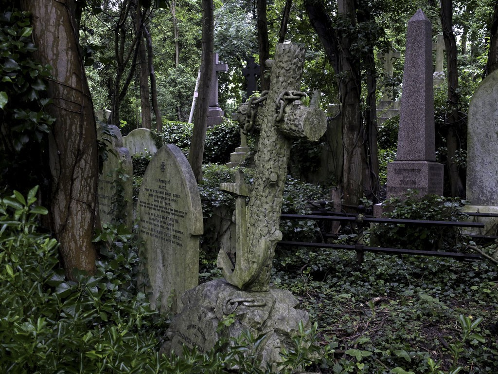 Старая, западная часть кладбища, где как раз и снимают фильмы ужасов.