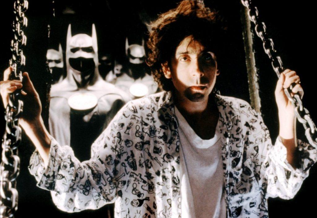Тим Бёртон на съёмках «Бэтмена».